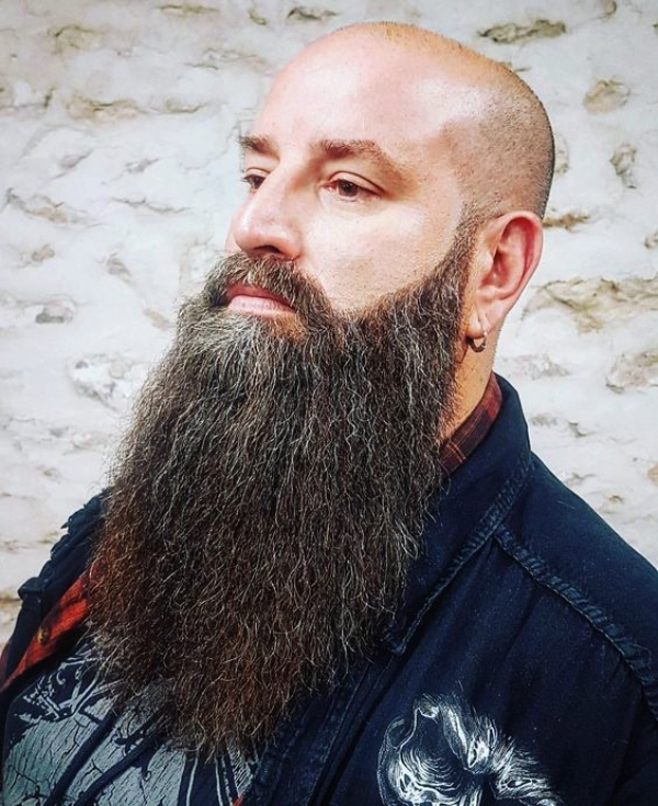 Long Beard Style With Shaved Head