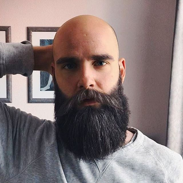 Long & Full Beard With Shaved Head