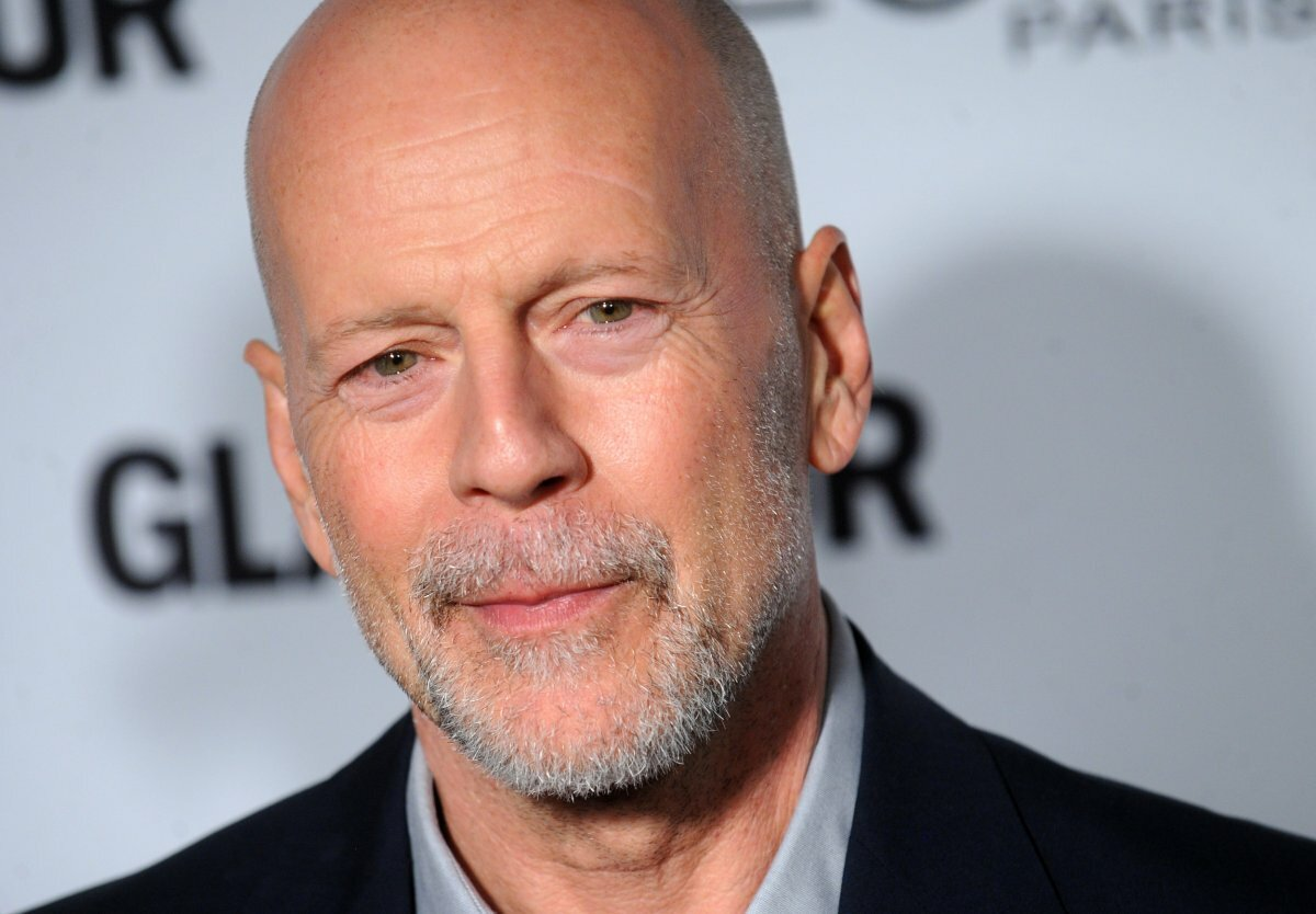 Shaved head with beard Bruce Willis Stubble