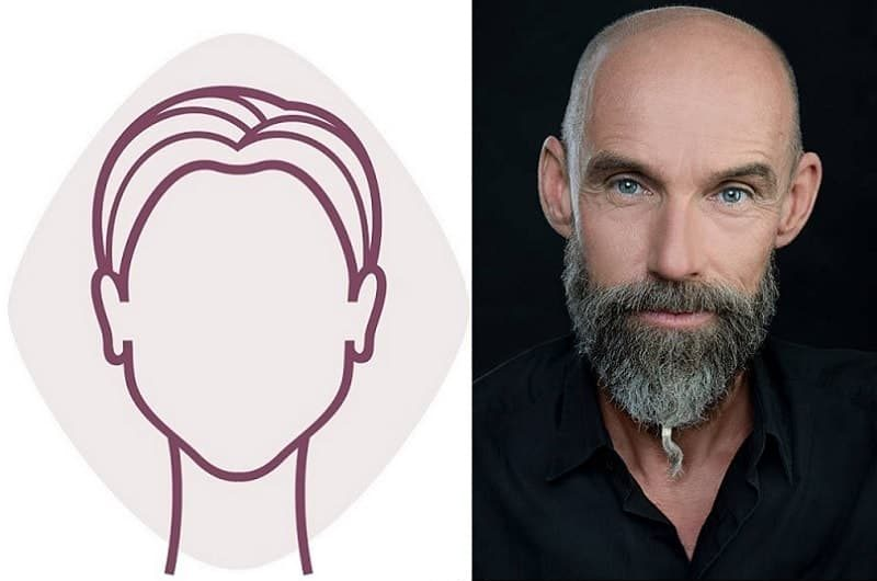 Shaved Head With Beard for Diamond Faces