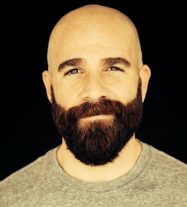 Shaved Head With Beard Full