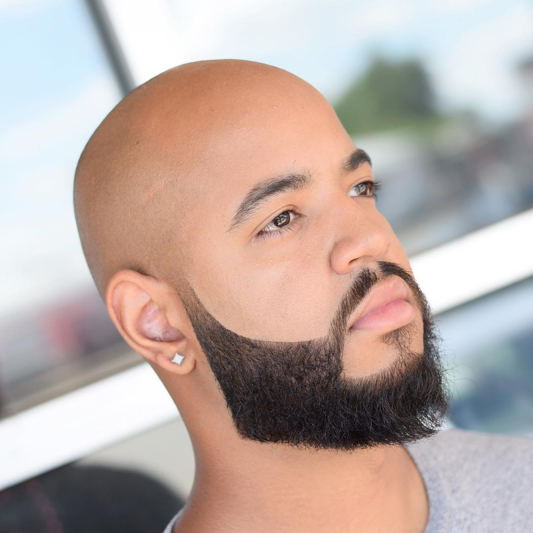 Short Beard Style for Bald Men