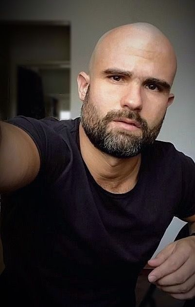 Thick Stubble Beard for Bald Men