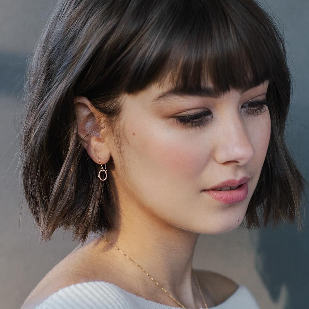 Chin Length With Bangs
