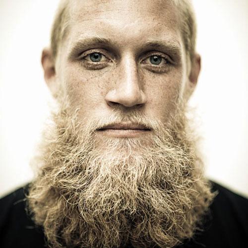 blond beard