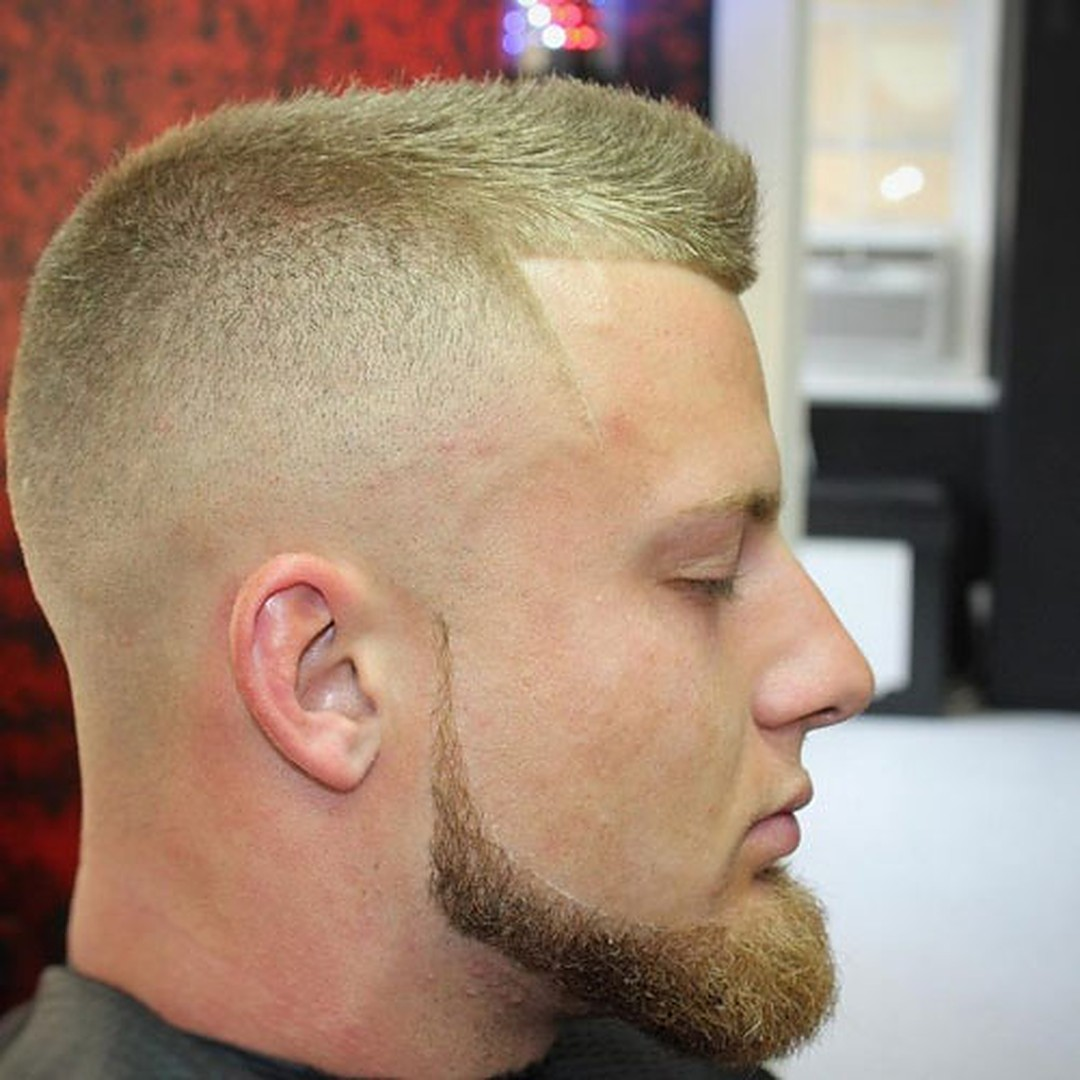 Jawline Chin Beard Without Mustache for men