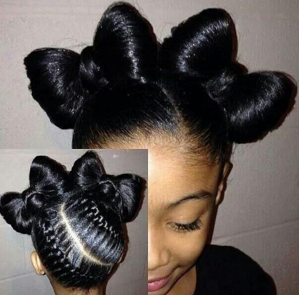 braids into a ponytail black hair