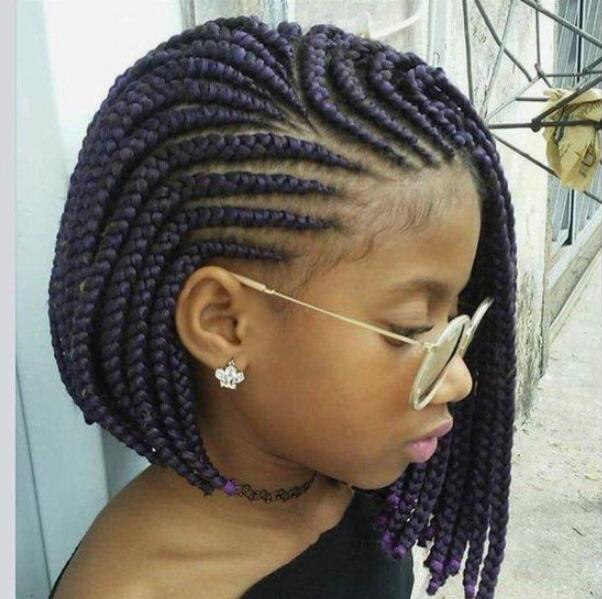 fade haircut with braids