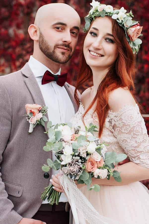Mens Wedding Hairstyle Bald Head And Beard