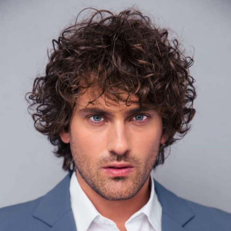 Mens Wedding Hairstyle Controlled Curls
