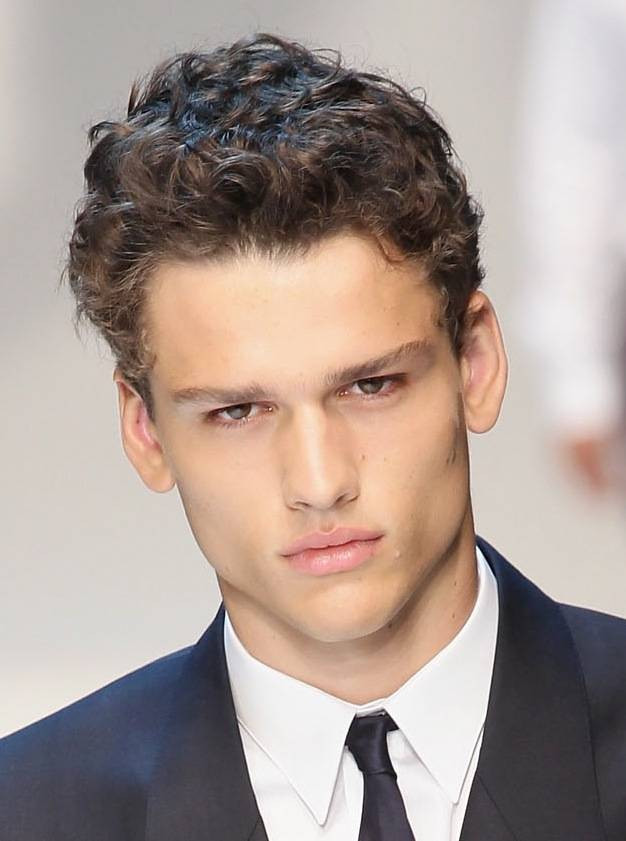 Mens Wedding Hairstyle Short Naturally Curly Hairstyle