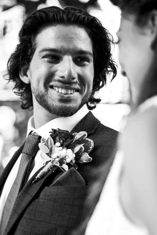 Mens Wedding Hairstyle Shoulder Length Wavy Hair