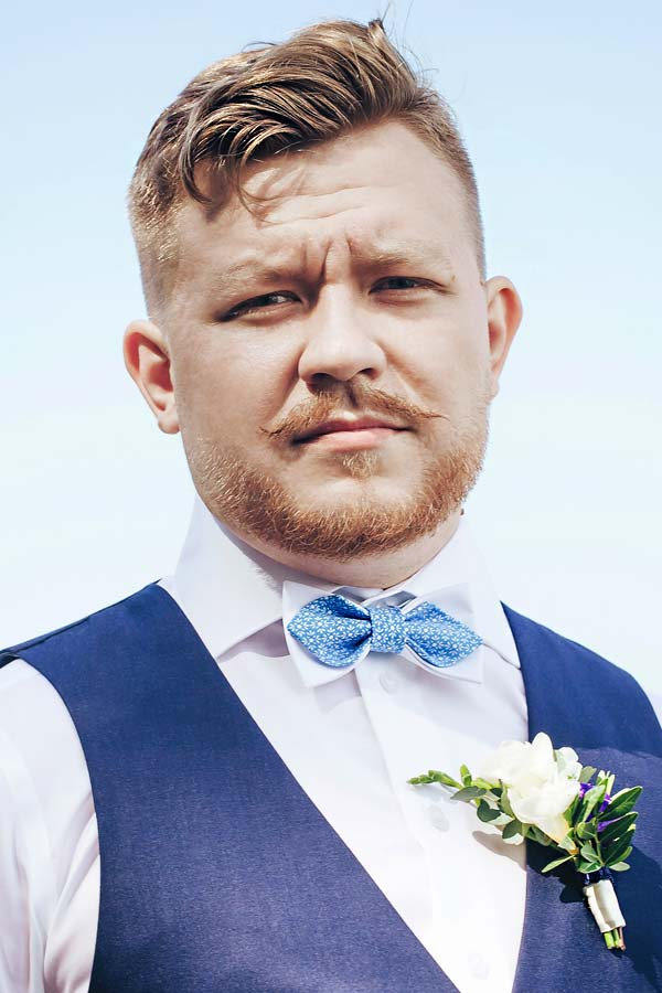 Mens Wedding Hairstyle Textured Short Hair