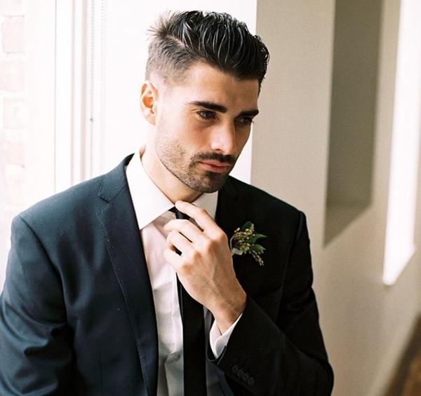 Mens Wedding Hairstyle Undercut