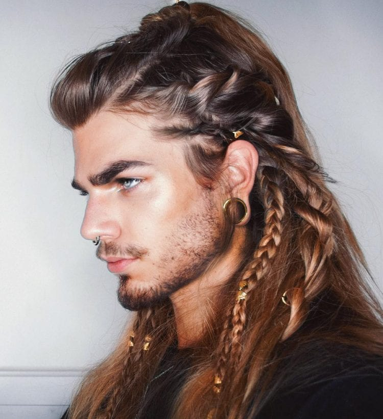 Braids Design on Long Hair and Beard