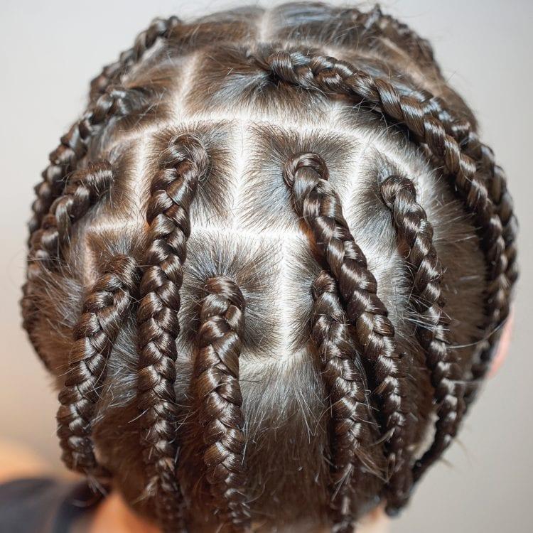 Detailed Braided Thin Hair
