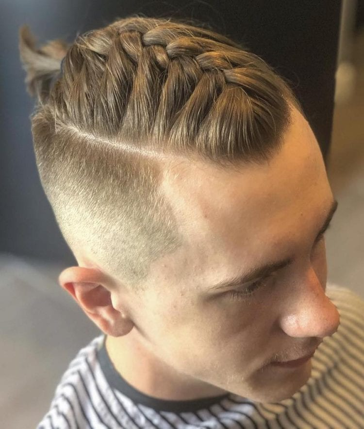 Tapered Sides Blonde Hair