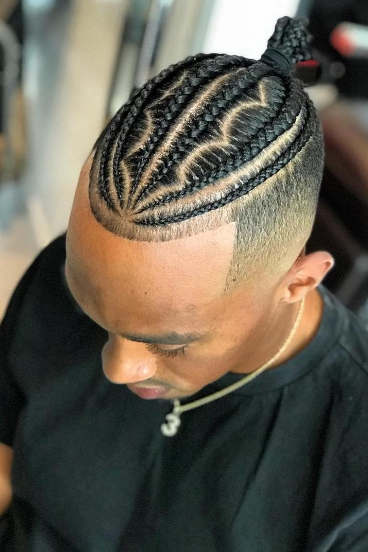 Tight Braids with Buzzed Sides