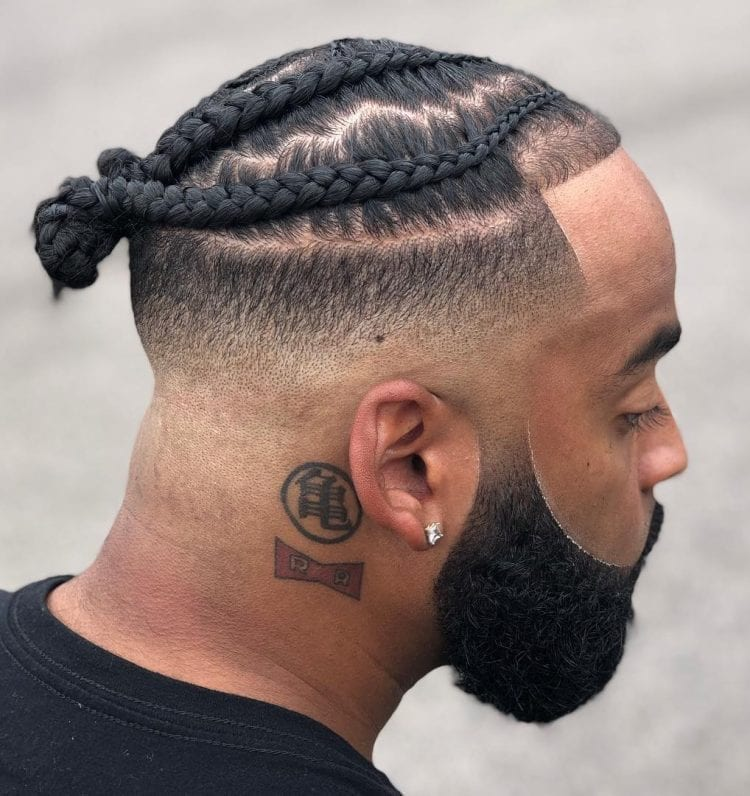 Tight Knotted Braids Men