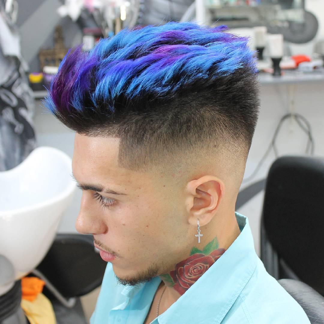 green hair dye men