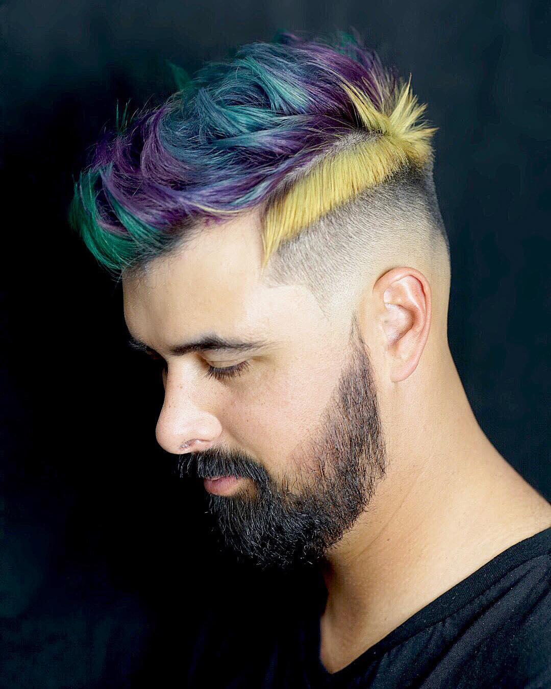 mens hair highlights