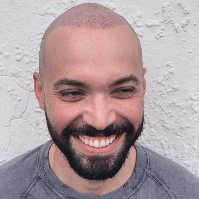 Buzz Cut Balding hairstyles for balding men