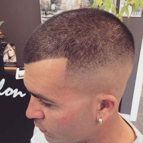 Buzz Cut with High Fade hairstyles for balding men