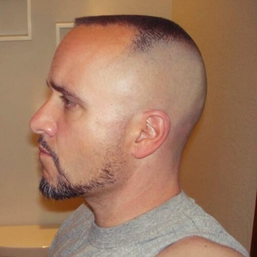 Flat Top with High Bald Fade