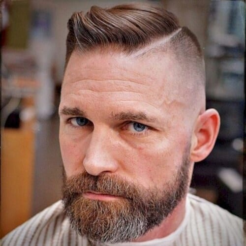 Hard Part Fade hairstyles for balding men
