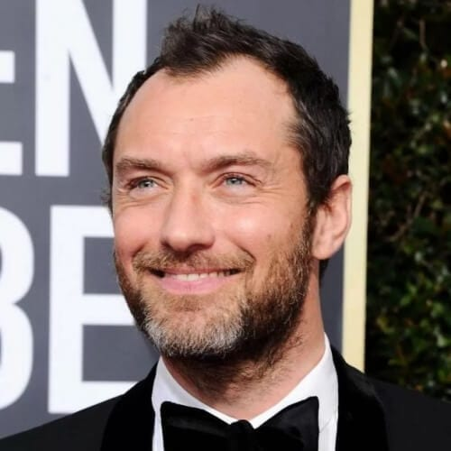 Jude Law hairstyles for balding men for Receding Hairline