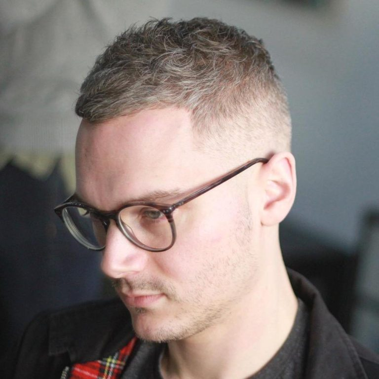 Messy High & Tight hairstyles for balding men