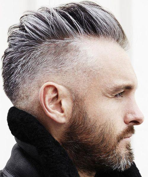 Mid Fade Taper hairstyles for balding men