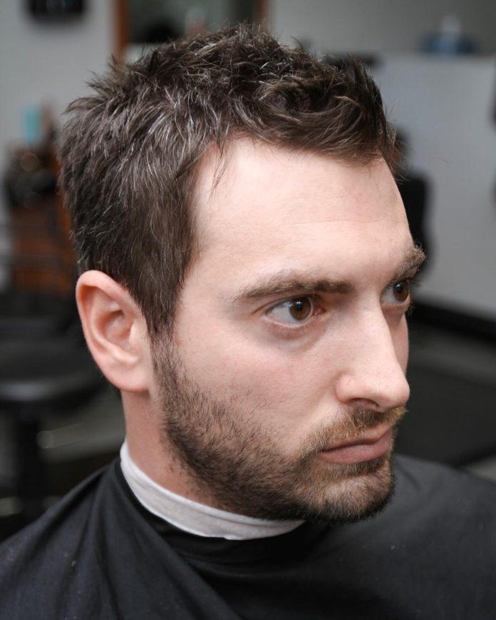 Scruffy Short hairstyles for balding men