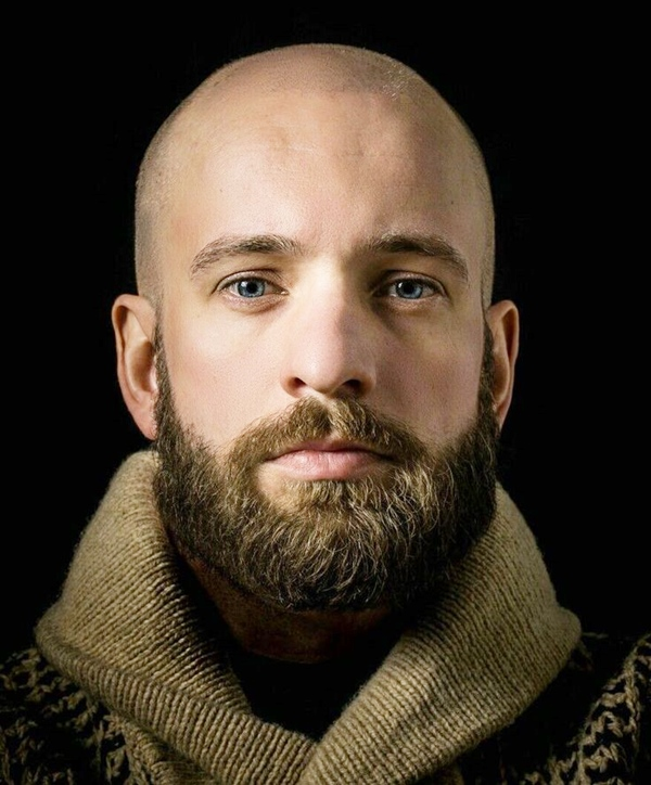 Shaved Head with Beard hairstyles for balding men