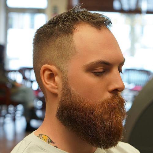 Short Cut with Long Beard hairstyles for balding men