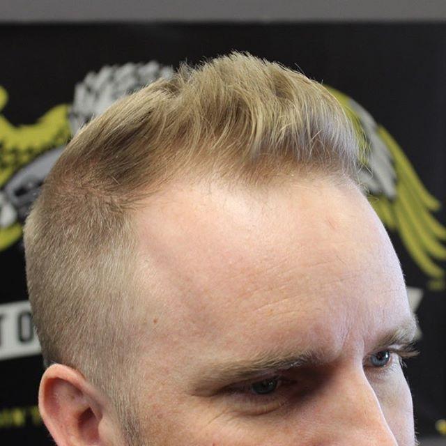 Short Pomp hairstyles for balding men