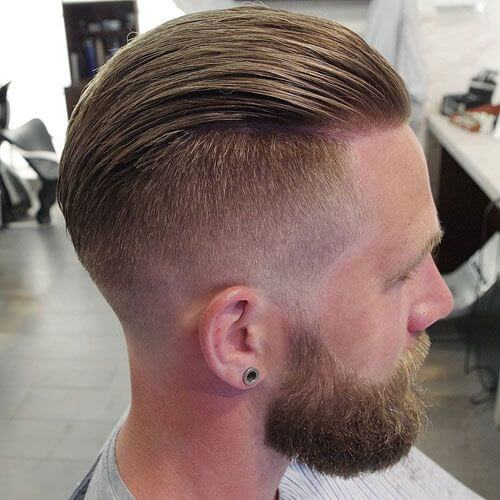 Slicked Back Haircut for Bald Spot in the Back