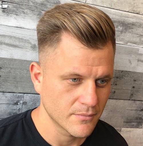 Slicked Back hairstyles for balding men