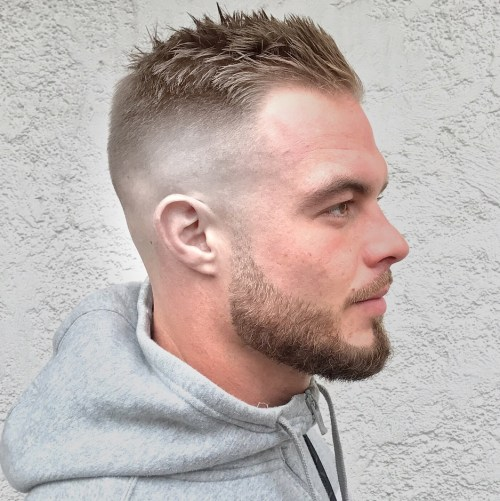 Spikes with Shaved Sides hairstyles for balding men