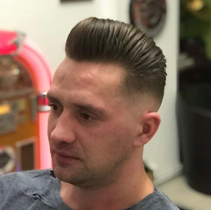Taper Fade with Short Pompadour