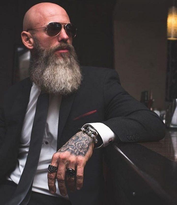 Long bald with beard