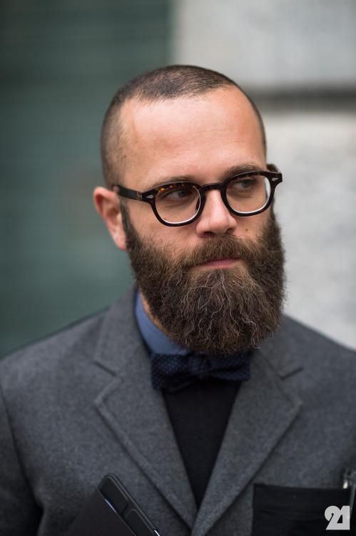 Ordinary & Full Beard bald with beard