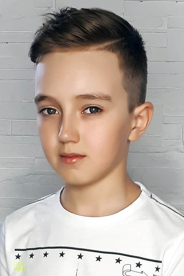 Accentuated Side Part For boys haircuts