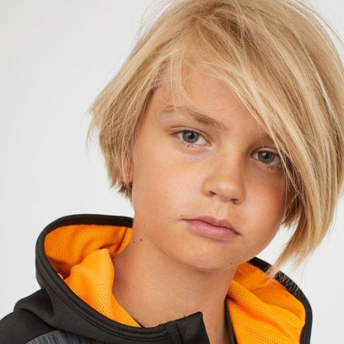 boys haircuts Casual Flair – Asymmetrical Side with Fringe
