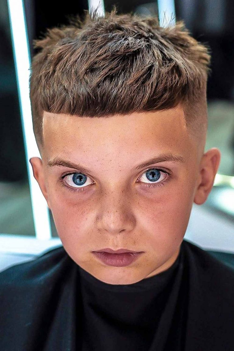 boys haircuts Classic Crop With Fade & Fringe
