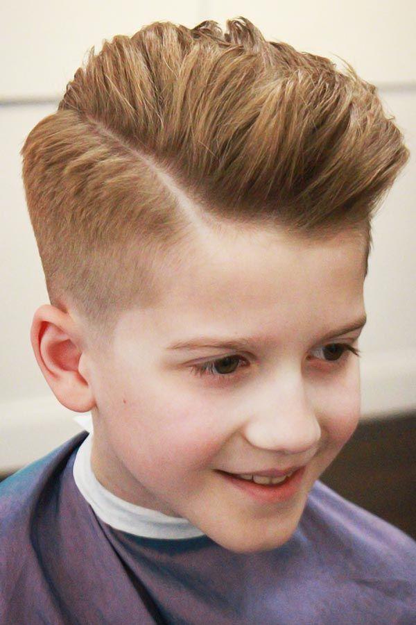 boys haircuts Clean Side Brush Taper Fade