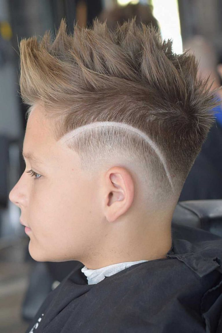 boys haircuts Design With Spiky Quiff