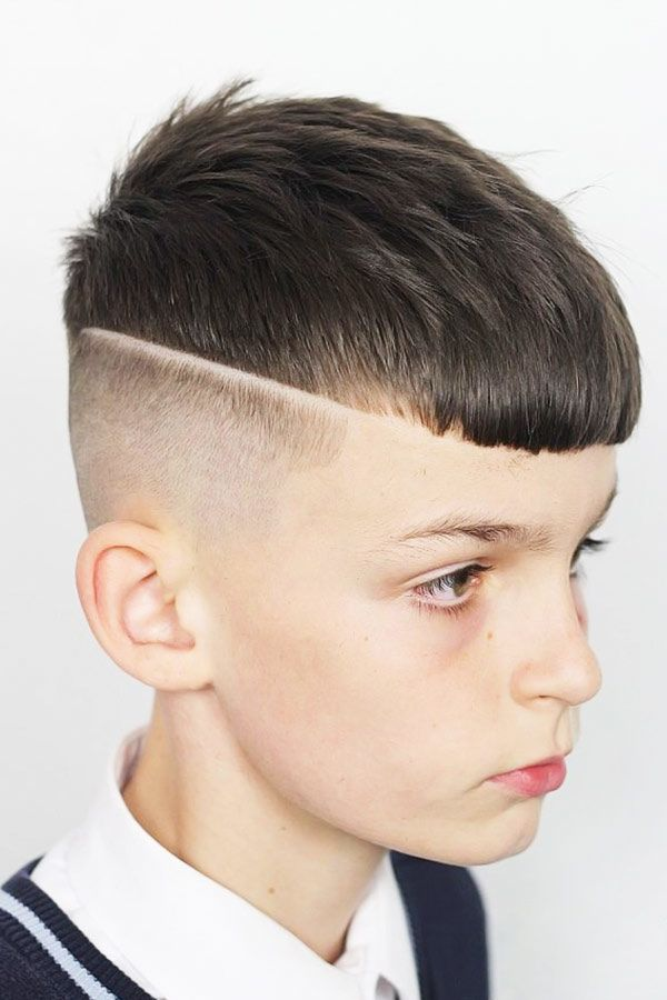 boys haircuts Textured French Crop With Straight Fringe