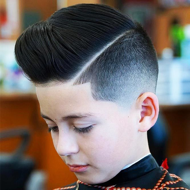 boys haircuts Undercut Slicked Back