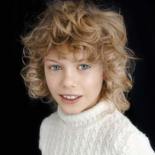 Curls, Curls, Curls– Blonde Curly boys haircuts